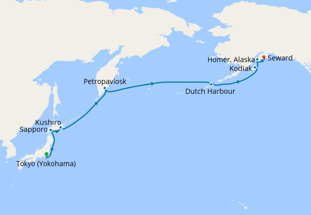 Japan, Russia & Alaska Voyage from Tokyo, 10 May 2019   16 Nt