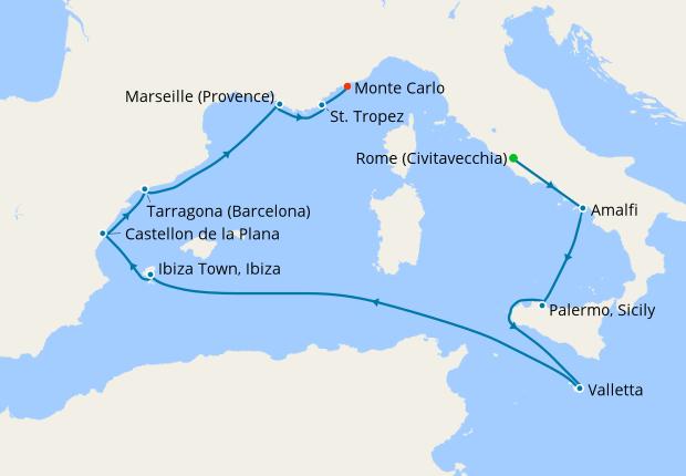 Mediterranean Marvels from Rome, 8 June 2019   10 Nt