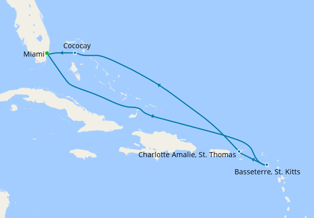 Eastern Caribbean From Miami 4 October 2019 9 Nt