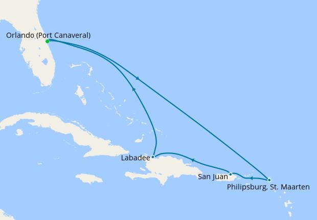 Eastern Caribbean from Orlando