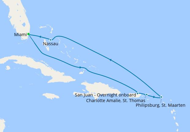 Eastern Caribbean & Bahamas from Miami, MSC Seaside, 25 May 2019