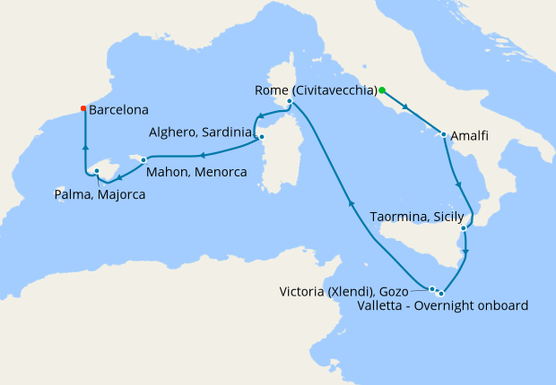 Islands of the Med from Rome, 17 July 2019 | 10 Nt | Azamara Pursuit
