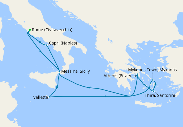 Eastern Mediterranean From Rome 20 May 2019 9 Nt Jewel Of The Seas 20 May 2019 Royal Caribbean Iglucruise