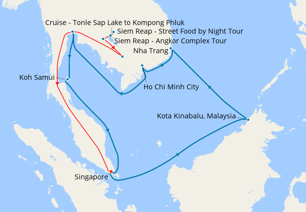 Ultimate Cambodia Land Tour Cruise Southeast Asia 9 February 2019 20 Nights