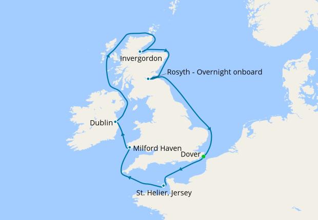 Map Of Ireland And Scotland.Ireland Scotland Wales With Optional Edinburgh Military Tattoo