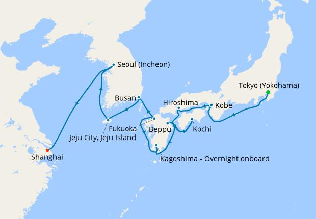 Japan Korea China Discovery 11 October 2019 15 Nt Celebrity