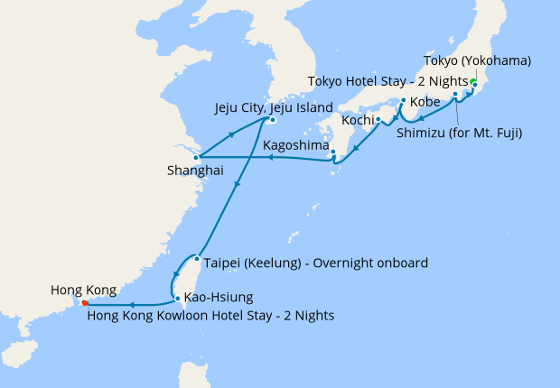 Tokyo To Hong Kong Via Taiwan With Stays 20 November 2019 Nt Celebrity Millennium Cruises Iglucruise
