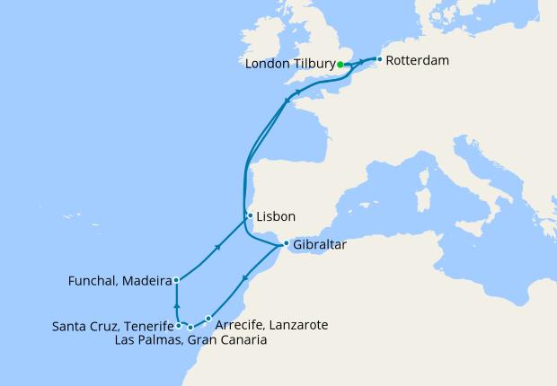 Canary Islands & Madeira from Tilbury
