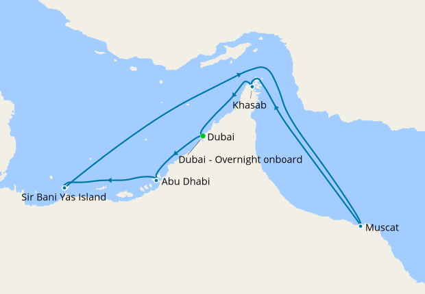 United Arab Emirates & Oman from Dubai, 10 January 2020 | 8 Nt | MSC