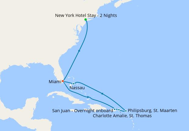 New York Miami Beach Eastern Caribbean 6 November 2018 12 Nt Msc Seaside 06 Cruises Iglucruise