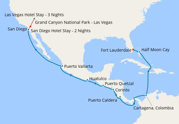 Grand Canyon Las Vegas San Diego Amp Panama Canal 29 October 2018 21 Nt Ms Volendam 29