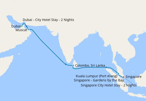 Dubai Sri Lanka Malaysia To Singapore 24 November 2019 16 Nt Shire Princess Cruises Iglucruise