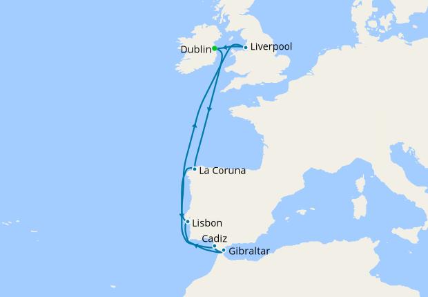 Spain, Portugal & Gibraltar from Dublin, 9 August 2019 | 10 Nt