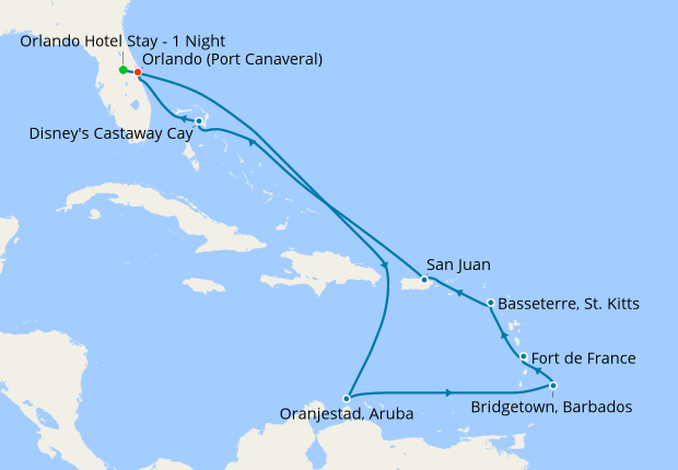 Southern Caribbean from Port Canaveral, 26 July 2019 | 13 Nt ... on