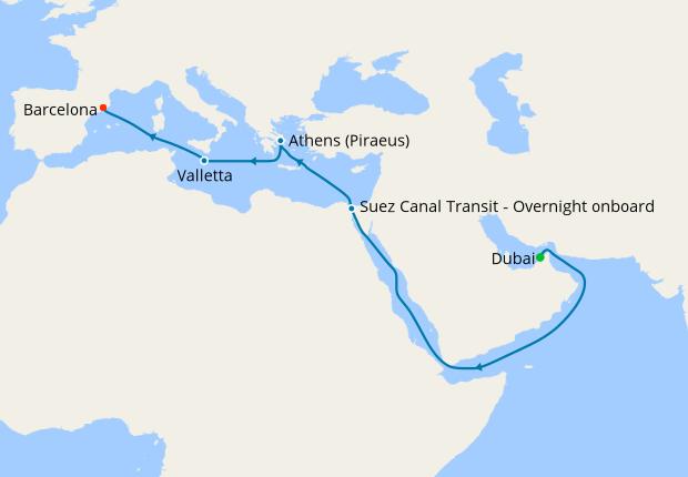 Распродажа кают на круиз Дубай - Барселона на Explorer of the Seas с 24.04 по 07.05.19