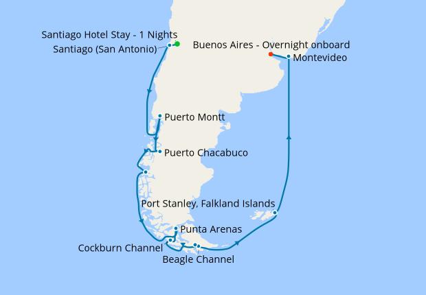 San Antonio To Buenos Aires Holland America Line 20th