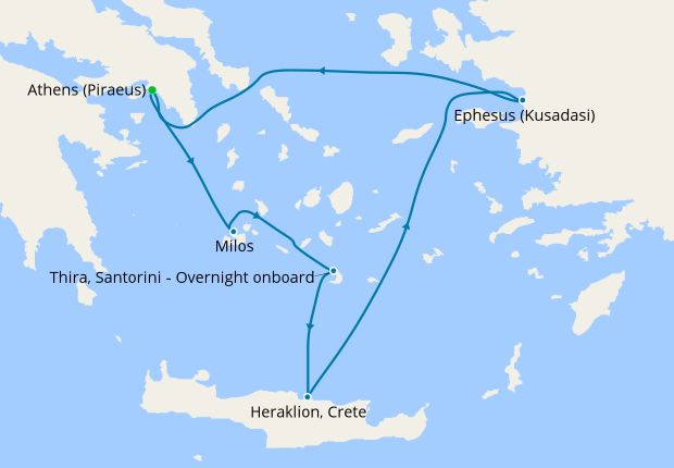 Idyllic Greek Islands & Turkey from Athens