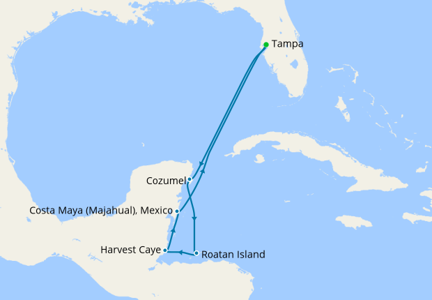 Western Caribbean From Tampa 23 March 2019 9 Nt Norwegian Pearl 23 March 2019 Norwegian