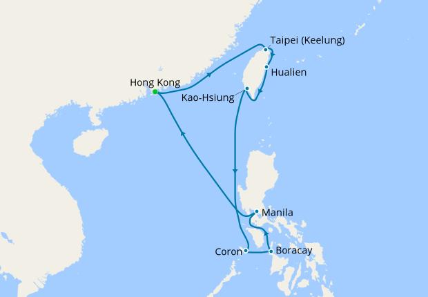 Taiwan The Philippines With Hong Kong Stay Azamara