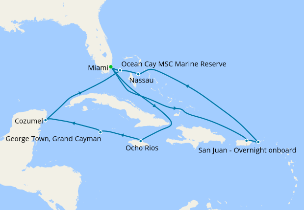 Ultimate Caribbean Adventure from Miami, 9 November 2019