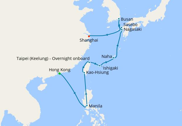 Taiwan & Japan from Hong Kong