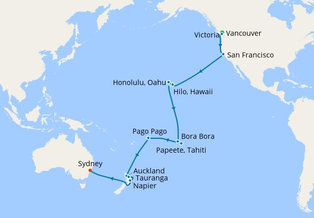 tahiti and hawaii map Hawaii Tahiti South Pacific Crossing 24 September 2019 31 Nt tahiti and hawaii map