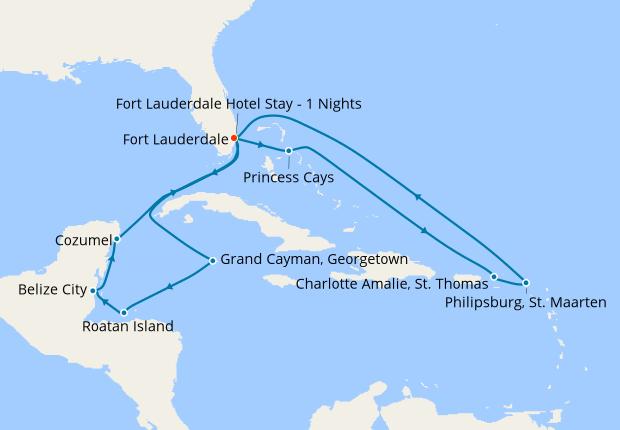 Caribbean East West Adventurer 10 January 2020 16 Nt Sky Princess 10 January 2020