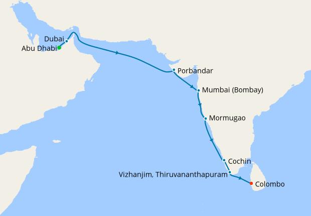 Abu Dhabi, Dubai, India & Sri Lanka Delights with Stays, 2