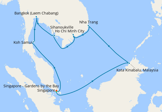Vietnam Thailand Malaysia To Singapore With Stay 26 February 2020 16 Nt Shire Princess Cruises Iglucruise