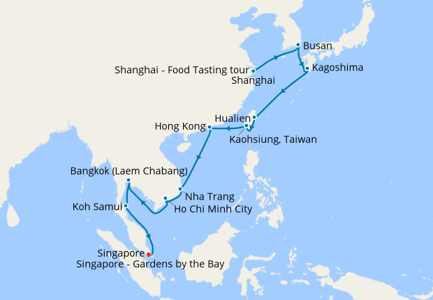 South Korea China Thailand To Singapore With Stay 29 April 2020 22 Nt Shire Princess Cruises Iglucruise