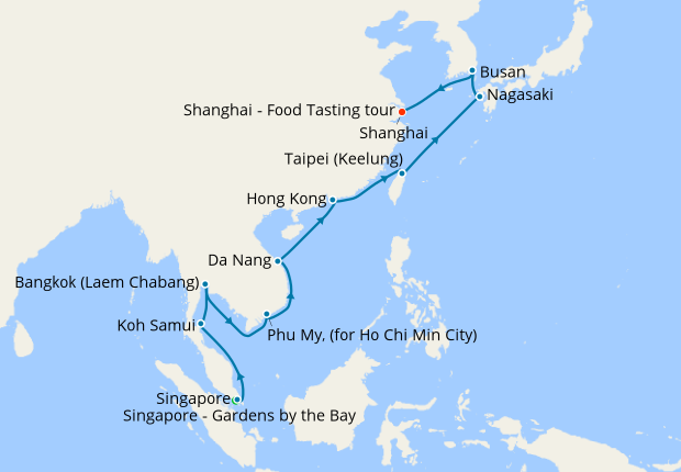 Singapore Vietnam Taiwan To China With Stay 13 April 2020 22 Nt Shire Princess Cruises Iglucruise