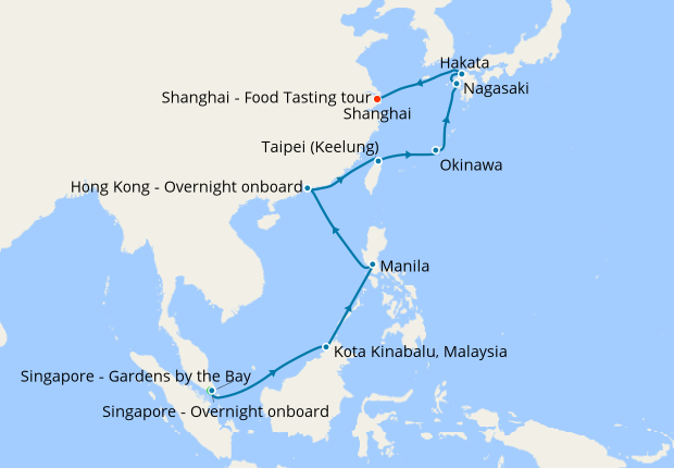 Singapore An Taiwan To China With Stay 15 May 2020 22 Nt Shire Princess Cruises Iglucruise