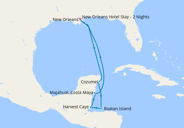 bd051f7c30 Western Caribbean with New Orleans Stay