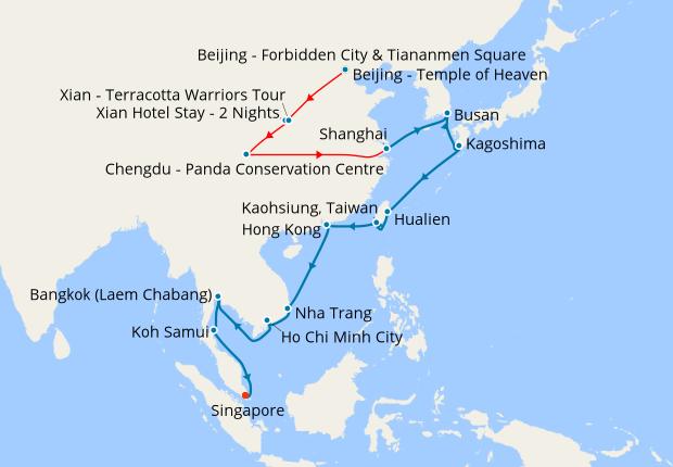 Terracotta Warriors Tour Package | Xian China | Goway |Xian East Asia Map