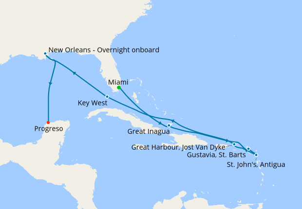 Key West Christmas 2019.Christmas In The Caribbean From Miami To Progreso 21