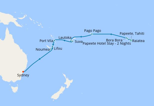 Fiji And Bora Bora Map Bora Bora, Fiji & South Pacific Islands from Papeete, 11 November