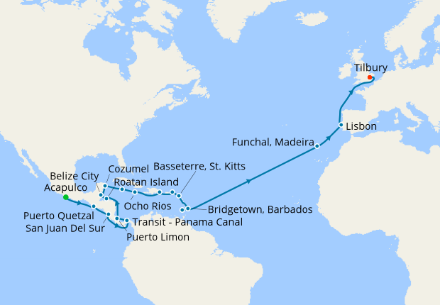 Panama Mexico Map.Trans Panama Canal Mexico Caribbean 19 April 2020 34 Nt