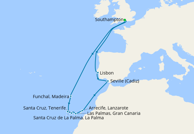 Canary Islands Madeira Portugal Amp Spain From Southampton 4 April 2020 14 Nt Ventura 04