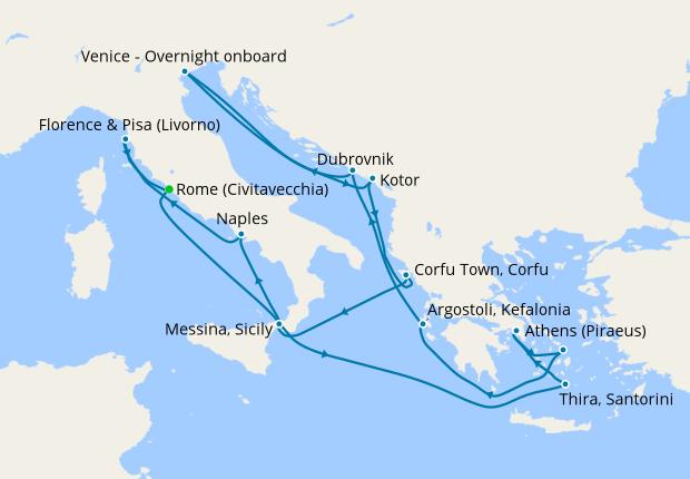 Greek Isles, Italy & Croatia: Mediterranean Delights from