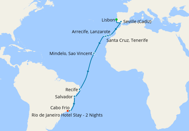 Portugal, Spain, Tenerife & South America with Rio Stay, 28