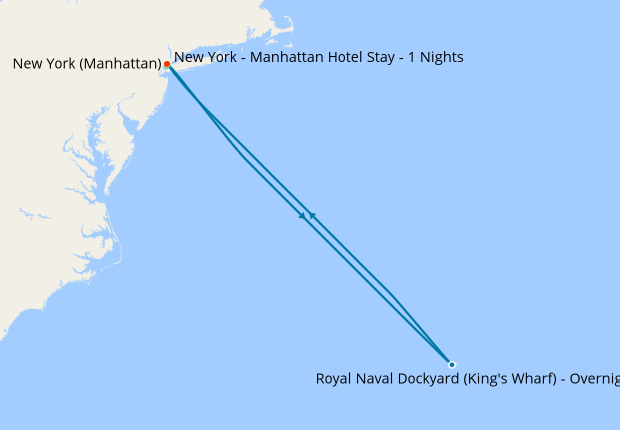 New York - Manhattan Hotel Stay - 1 Nights