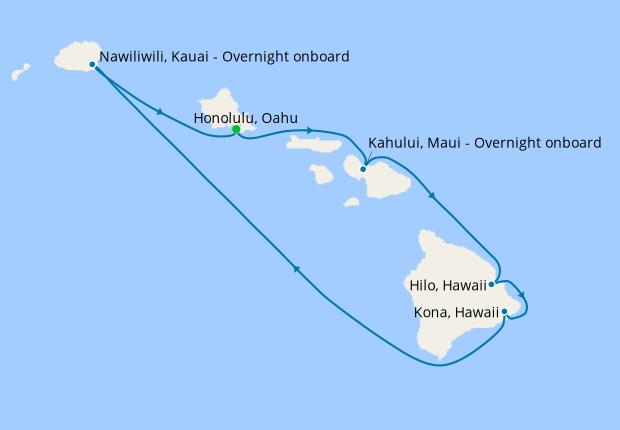 Hawaii Roundtrip from Honolulu