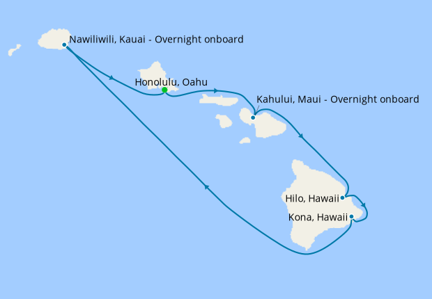 Hawaii Roundtrip from Honolulu