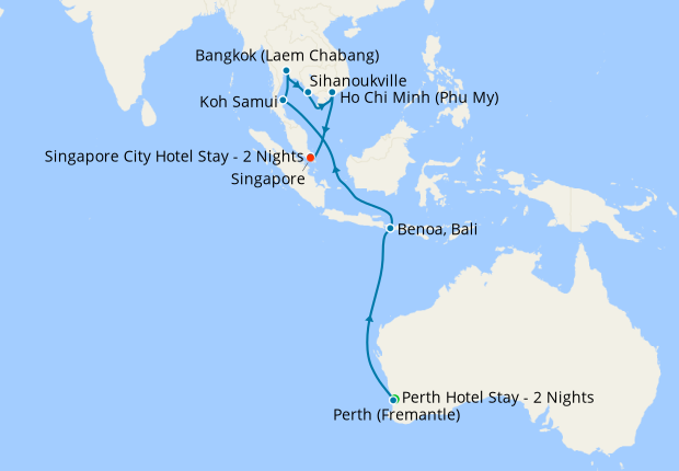 Australian & S East Asian Explorer from Perth to Singapore