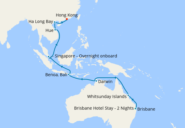 Brisbane Bali Singapore To Hong Kong With Stays 7 March 2020 27 Nights