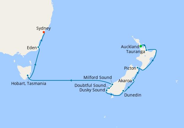 New Zealand Tasmania Australia Auckland To Sydney 20 November