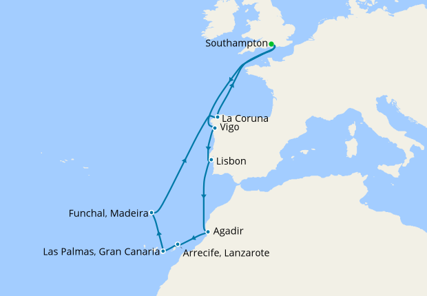 Map Of Spain Portugal And Morocco.Spain Portugal Morocco From Southampton 21 June 2020 12 Nt