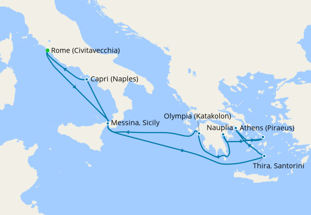 Cruise To The Edge 2020.Eastern Mediterranean Immersion From Rome Civitavecchia