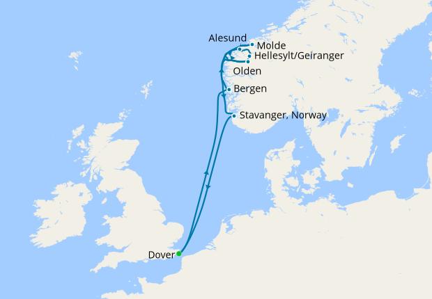 Norwegian Fjords From Dover 19 June 2020 9 Nt