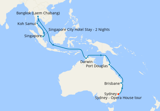 Singapore Thailand To Australia With And Sydney Stays 11 November 2020 24 Nt Regal Princess Cruises